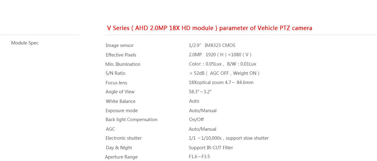 v series network vehicle camera - vehicle product